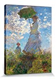 1art1® Claude Monet - Camille Monet Und Sohn Jean Auf Dem Hügel 1875 Cuadro, Lienzo Montado Sobre Bastidor (40 x 30cm)