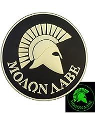 Glow Dark GITD Spartan Molon Labe US Navy Seals Morale Tactical PVC 3D Rubber Velcro Patch