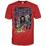 WWE Roman Reigns Comic Splash Official Men's T-Shirt (Red)