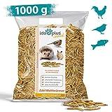Ida Plus - Edel Mehlwürmer getrocknet - 1000g - Insekten Snack für Hühner, Igel, Hamster, Teichfische und Reptilien - Vogelfutter für Wildvögel - Naturprodukt ohne Zusatzstoffe - Wildvogelfutter