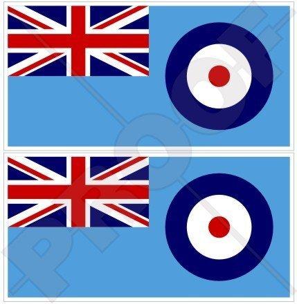 RAF Flagge Britische Königliche Luftwaffe Fähnrich UK 140mm Auto & Motorrad Aufkleber, x2 Vinyl Stickers