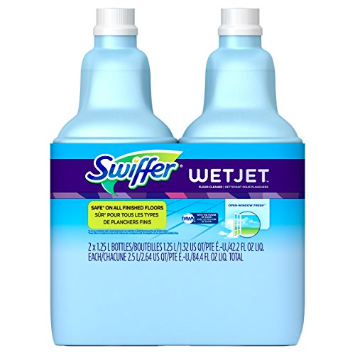 Swiffer WetJet Multi-purpose Floor Cleaner Solution Refill Open Window Fresh Scent 2 count of 1.25L by Swiffer