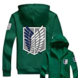 AOT Hoodie Cosplay Wings of Liberty Zip Up Hoody Jacke Kleidung Sweatshirt Kapuzen Pullover Kostüm