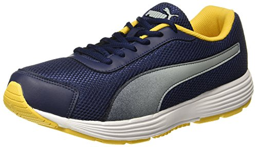 Puma Men's Aeden Peacoat-Spectra Yellow Running Shoes - 5 UK/India (38 EU)
