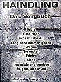 Haindling - Das Songbuch (Songbuch, Songbook, Notenbuch) für Gesang, Klavier, Gitarre usw.