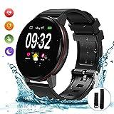 Bluetooth Smart Watch, Fitness Watch IP68 Waterproof Smartwatch 1.3 Inch Full Touch Screen