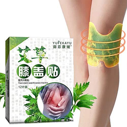 Wärmepflaster Selbsterhitzungs Patch, 12 Stück natürliches Abziehbild Moxibustion Moxibustion-Patch Halten Sie Ihre Körperteile heiß Knie