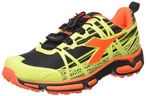Diadora Trail Race, Chaussures Mixte Adulte Giallo (Giallo Fluo/Nero C4102)