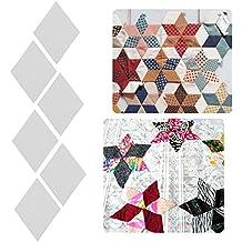 100 piezas de plantillas de papel para acolchar ropa, patchwork, bricolaje, herramientas de