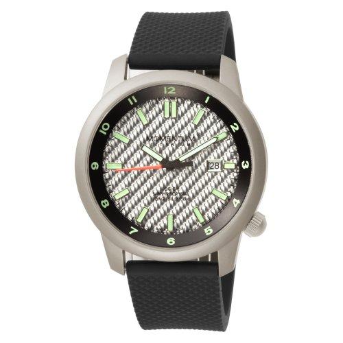 Momentum 1M-SP20S1 - Reloj analógico de cuarzo para hombre, correa de goma color negro