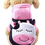 Haustier Kleidung, Niedlicher Hund Hoodie Sweatshirts Pullover mit Tasche Cartoon Drucktes Hemd(Rosa, S)