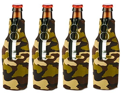 Funny Guy Tassen, Premium, zusammenklappbar, Neopren Coolies-Set von vier mit-Flaschenöffner One Size Camo Bottle