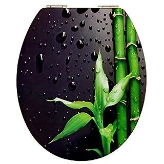 Cornat WC-Sitz Art of Acryl PIANO BLACK / Toilettensitz / Toilettendeckel / Klodeckel / WC-Deckel / Absenkautomatik / Holzkern (MDF) / KSDSC304