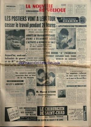 NOUVELLE REPUBLIQUE (LA) [No 5627] du 16/03/1963 -...