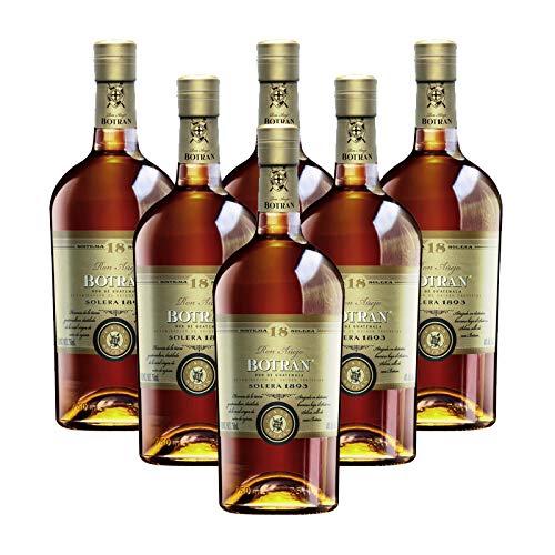 Ron Botran 18 embotellado por Gonzalez Byass sigue una crianza bajo el tradicional sistema de criaderas y soleras en botas de roble americano de whisky, con mezclas de 5 a 18 años. Su graduacion alcoholica es de 40% y es presentado en botellas de 75 ...