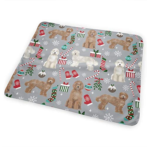 d Fabric Christmas Stockings Pet Lovers Holiday Grey Baby Portable Reusable Changing Pad Mat 25.5