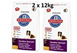 Hill's Sciene Plan Adult Sensitive Stomach & Skin (2 x 12kg) Hundefutter