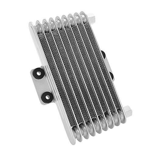 Radiatore di raffreddamento radiatore olio motore 125ml per 125cc-250CC moto Dirt Bike ATV(argento)