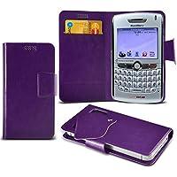 (Purple) Blackberry 8830 World Edition Mega sottile Protezione in ecopelle