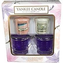 Set di candele votive Yankee Candle votive che include 2candele e 2supporti
