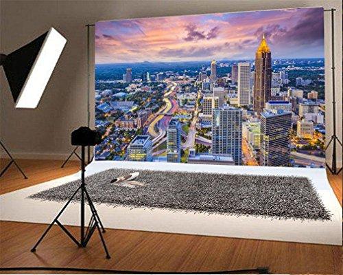 Dunklen Himmel Ein Licht (YongFoto 2,2x1,5m Foto Hintergrund Stadtbild modernes Gebäude Haus glänzender Licht Blauer Himmel Dunkle Wolke Natur Wand Fotografie Hintergrund Fotoshooting Portrait Party Kinder Hochzeit Fotostudio)