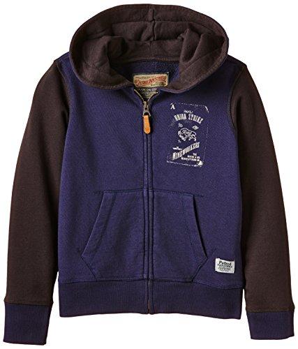PETROL INDUSTRIES - Hooded sweat with zip, Felpa per bambini e ragazzi, blu (ultramarine), 8 anni (128 cm)
