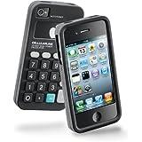Cellular Line - Carcasa de silicona blanda con protector de pantalla para Apple iPhone 4/4S, diseño de calculadora, color negro