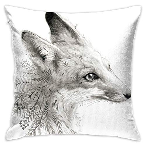KLYDH A Young Fox Home Decorative Throw Pillow Case Cushion Cover for Gift Home Couch Bed Car,Cover Size:16 x 16 Inch(40cm x 40cm)