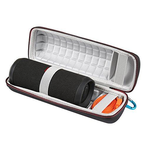 LuckyNV Hard Eva Carrying Travel Case für JBL Flip 3 4 Wasserdichte tragbare Bluetooth-Lautsprechertasche. Passend für USB-Kabel und Zubehör (2) Eva Carrying Case