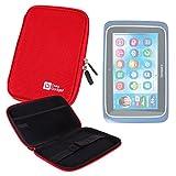 DURAGADGET Custodia Rigida Rossa Per tablet Clementoni Clempad 8-8 Plus - Chiusura A Zip E Tasca Interna Per Accessori - 10''