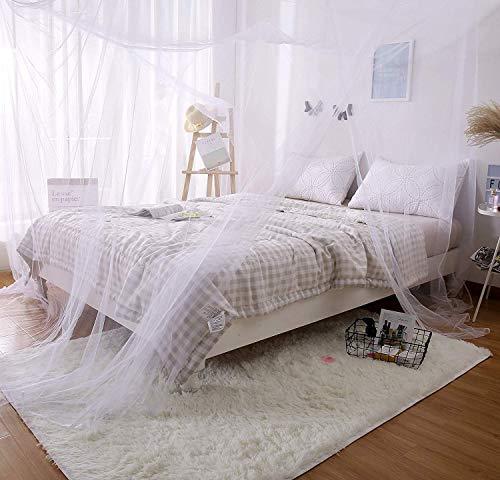 Elegante Kinderbett (amaes Moskitonetz für Reise und zu Hause | 210 * 190 * 240 cm Moskitonetz Mückennetz für Einzelbetten & Doppelbett & Hängematte & Kinderbett Schutz des Insektennetzes - 4 offenen Seiten)