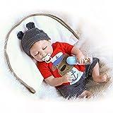 Minidiva Lebensechte Puppen Babys, Triplespark Qualität Reborn Puppe Junge Komplett Silikon Vinyl Realistische Baby Puppe 22' 55 cm Handgemachtes Geburtstagsgeschenk, EU71-Zertifizierung
