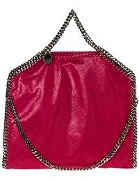 Stella McCartney Falabella Fold Over bolso de mano mujer fucsia