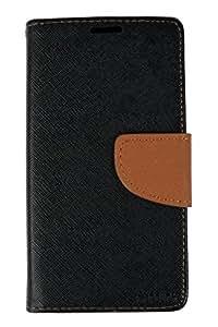 Kabir Mercury Wallet Case Flip Cover For Xiaomi Redmi 2 - Black And Brown