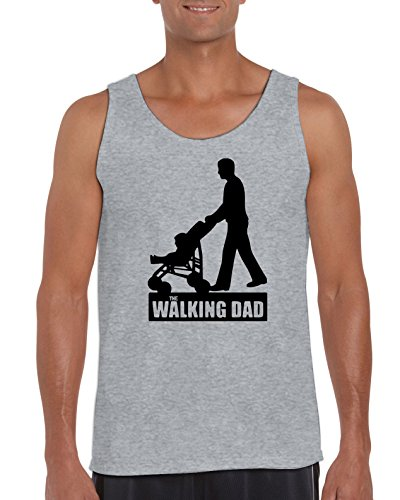 TRVPPY Herren Tank-Top Modell The Walking Dad, Grau, XXL