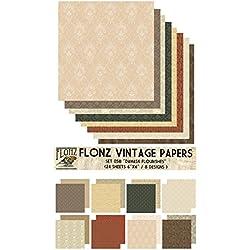 Floral Damask FLONZ Vintage Paper