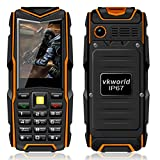 Hunpta VKworld Stone V3 IP67 wasserdicht stoßfest staubdicht Handy Power Bank lange Standby-Outdoor-Armee 5200mAh 64MB RAM + 64MB ROM GSM-Netz (Orange) (Orange)