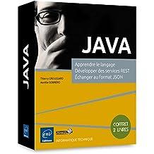 JAVA - Coffret de 2 livres : Apprendre le langage, Développer des services REST, Échanger au format JSON