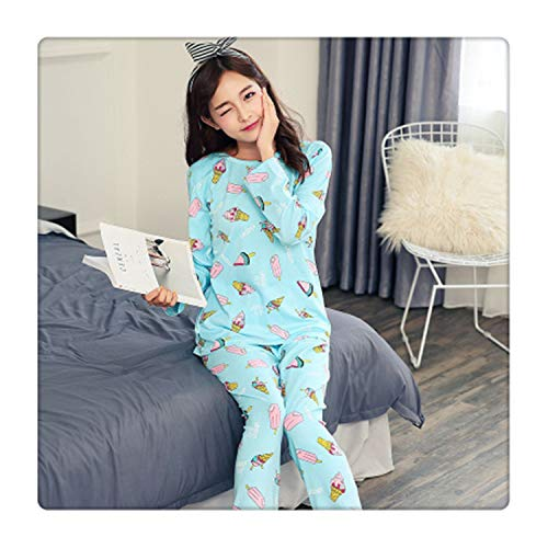 New Girl Long Sleeved Pajamas Autumn Women Nightwear Ladies Sleepwear Suit Cartoon Lovely Suit Student Cute Home Clothes 16 M Arden Cup