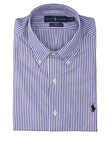 Polo ralph lauren camicia popeline a righe slim-fit uomo mod. 710705269 s