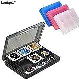 Luniquz 28-in-1 Spiel Kartenspeicher Aufbewahrungskoffer Organizer Halter für Nintendo DSi DS Lite 3DS - schwarz