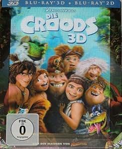 DIE CROODS 3D Blu ray STEELBOOK + 2D Blu ray Limited Edition Exklusiv