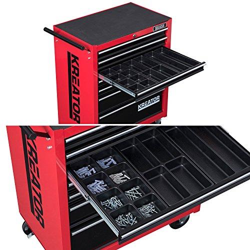 Mobiler Werkstattwagen Werkzeugwagen 348 tlg. gefüllt abschließbar 7 Schubladen - 6