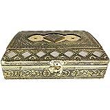 SARANGWARE Wooden Handmade Decorative Platter 4 Compartment Dry Fruit Box, Gift Box, Gift (OXY136)