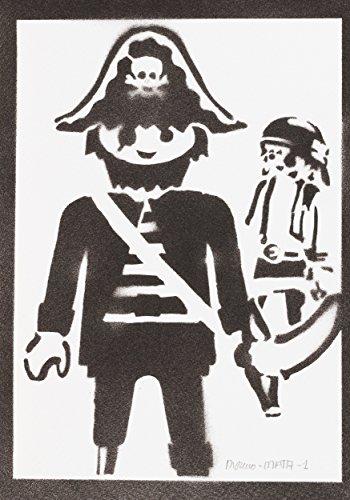 Playmobil Klicky Pirat Handmade Street Art