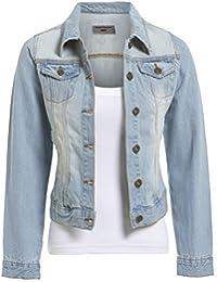 SS7 Women's Denim Jacket, Light Blue, Sizes 18 to 24