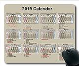 Yanteng 2019-2020 Clavier de Souris Calendrier, Un Calendrier Tapis de Souris de Jeu, Agenda 2019 avec détails de Vacances