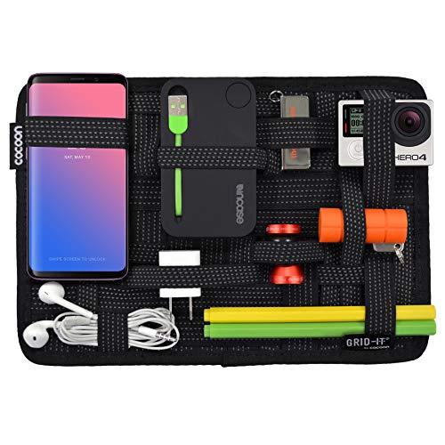 Band Organizer (Cocoon GRID-IT - Taschen Organizer mit elastischen Bändern / Organizer für Aktentasche / Multifunktionales Brett mit Organisationssystem / Reißverschluss & Schlaufe / Schwarz - 19,1 x 1 x 26,7 cm)