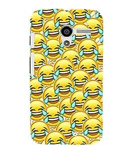 Fuson Designer Back Case Cover for Motorola Moto X :: Motorola Moto X (1st Gen) XT1052 XT1058 XT1053 XT1056 XT1060 XT1055 (Smiley Emoticon Happy Lol Expressive)