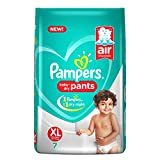 Pampers New X-Large Size Diapers Pants, 7 Count
